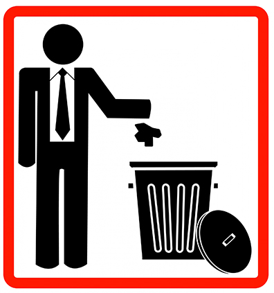 Man Throwing Out Trash
