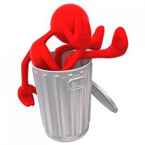 Evil Spirit In Garbage Can