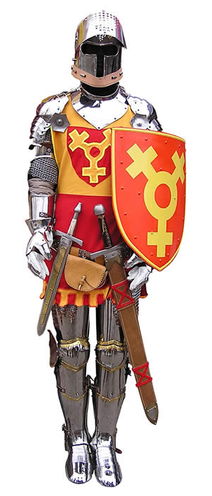 Spiritual Armor as represented by a knight in shining armor