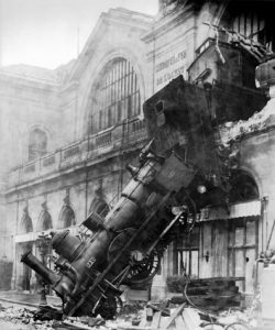 Famous train wreck photo